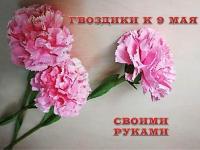 """ДИСТАНЦИОННОЕ ОБУЧЕНИЕ Мастер-класс """"Гвоздики к 9 Мая"""""""